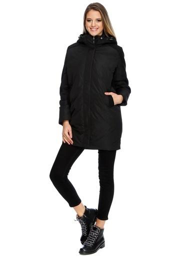 Ichi İchi Kapüşonlu Ceket Siyah